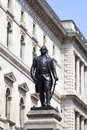 Statue of Robert Clive, British officer, Westminster, London, United Kingdom Royalty Free Stock Photo