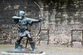 Statue Of Robin Hood Royalty Free Stock Photography