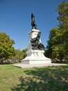 Statue of rochambeau in lafayette park washington d c Royalty Free Stock Photos