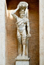 Statue of the Roman god of the Faun in Rome Royalty Free Stock Images