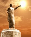 Statue of roman senator with the sun Stock Photos