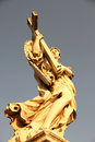 Statue in rome italy close to the castel sant angelo Stock Photos