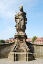 Statue of Saint Cunigunde Stock Image