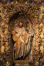Statue of Saint Joseph in the New Cathedral of Salamanca Royalty Free Stock Photo