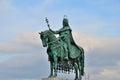 Statue saint stephen i hungarian i szent istvã n latin sanctus stephanus esztergom principality hungary – august esztergom Stock Photography