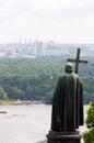 Statue of Saint Vladimir cityscape view, Kiev Royalty Free Stock Photo