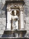 Statue of saint vlaho over pile gate the entrance dubrovnik old town Royalty Free Stock Image