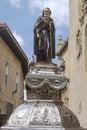 Statue of santo domingo de la calzada la rioja spain st james way Royalty Free Stock Photo