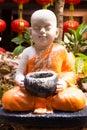 Statue of serenity novice in the garden Stock Photo