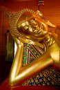 Statue of sleeping Buddha Royalty Free Stock Photo