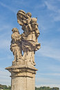 Statue of St. Anne on Charles Bridge, Prague Royalty Free Stock Photo
