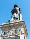 Statue of St Bruno in the Campo di Fiori in Rome Italy