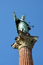 Statue of st dominic the bronze in bologna italy Stock Photography