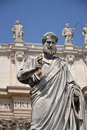 Statue of St. Peter in Vatican Stock Photo