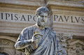 Statue of st peter in the vatican city rome italy Royalty Free Stock Image