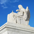 Statue at the Supreme Court Stock Image