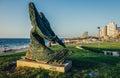 Statue in Tel Aviv Royalty Free Stock Photo