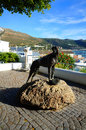 The statue of thejust nuisance just was only dog ever to be officially enlisted in royal navy he was a great dane who between and Royalty Free Stock Photo