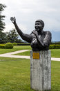 Statue to aretha franklin in montreux may designed by italian artist marco zeno stands the gardens of the palace unveiled Stock Photo