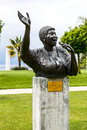 Statue to aretha franklin montreux may designed by italian artist marco zeno stands in the gardens of the palace unveiled Royalty Free Stock Images