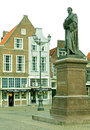 Statue in the town delft netherlands april centre of city on april Royalty Free Stock Photo