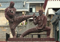 Statue Of Two Fighters Near Sh...