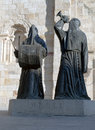 Statue of two Nazarenes Royalty Free Stock Photo