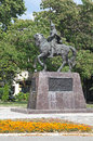 Statue in varna bulgaria of rider Stock Photo