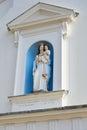 Statue of virgin Mary on catholic church Royalty Free Stock Photo