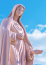 Statue of virgin mary made ​​of gypsum Stock Images
