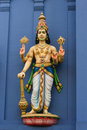 Statue of  Vishnu on Hindu tem Royalty Free Stock Photography
