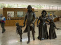 Statue of Washington and his family at Mount Vernon was the plantation home of George Washington Royalty Free Stock Photo