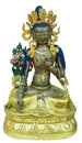 Statue of white tara on a background Stock Images