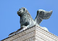 Statue of the winged Lion of St mark Royalty Free Stock Photo
