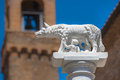 Title: Statue of Wolf With Romulus and Remus in Rome, Italy