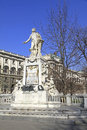Statue of wolfgang amadeus mozart in front the national library in vienna austria Stock Image