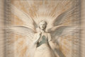 Statue of woman angel. Royalty Free Stock Image