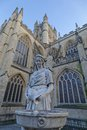 Statue of a woman by bath abbey image taken outside england Royalty Free Stock Image