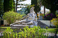 Statue of Wounded Achilles, Corfu, Greece Royalty Free Stock Photo