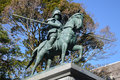 Statue of Yamauchi Kazutoyo Royalty Free Stock Photo