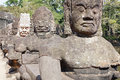 Statues of Angkor Thom Royalty Free Stock Photo