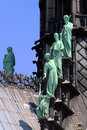Statues on a cathedral roof Royalty Free Stock Photo