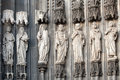 Statues on the Cologne Cathedral Dom. UNESCO Wold Heritage Site Royalty Free Stock Photo