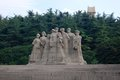 Statues des martyres, Yuhuatai, Nanjing, Chine Photo stock