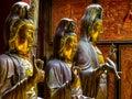 Statues in Gangaramaya Buddhist Temple in Colombo, Sri Lanka Royalty Free Stock Photo