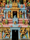 Statues of gods and goddesses in Hindu temple Royalty Free Stock Photography