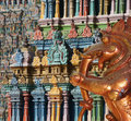 Statues of gods and goddesses in the Hindu temple Royalty Free Stock Photo