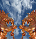 Statues of gods and goddesses in the Hindu temple Stock Photos