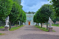 Statues at Italian Cottage in Kuskovo estate in Moscow Royalty Free Stock Photo
