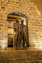 Statues of miners in Wieliczka, Poland. Stock Images